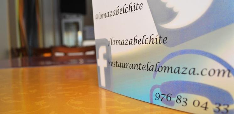 Contacto restaurante Belchite La Lomaza